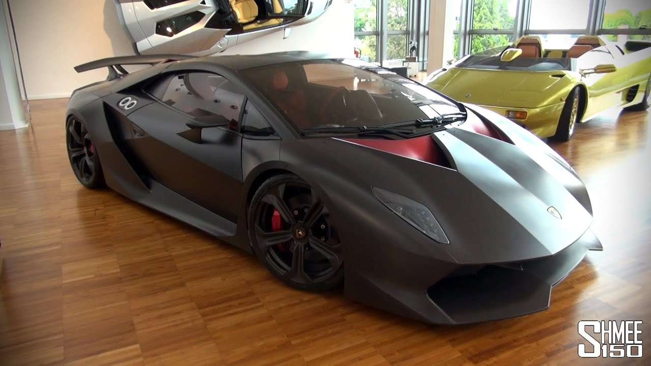 lamborghini sesto elemento at the lambo museum youtube. Black Bedroom Furniture Sets. Home Design Ideas