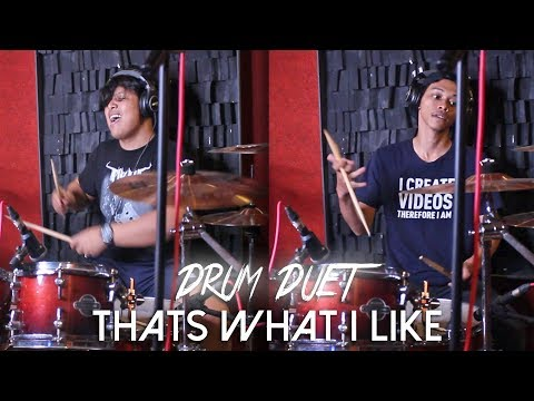 That's What i Like (DRUM DUET) - Qorygore Cover w/ R Wiryawan