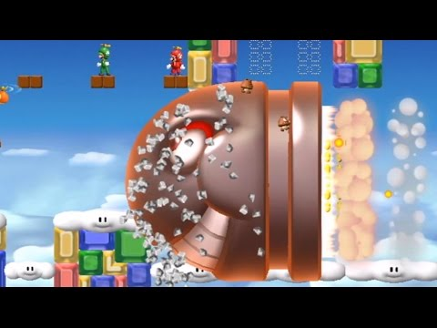 New Super Mario Bros. Wii Co-op Walkthrough - World 9 (All Star Coins)