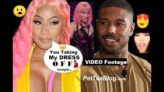 Nicki Minaj says Michael B Jordan Will Take her Dress OFF tonight! Video