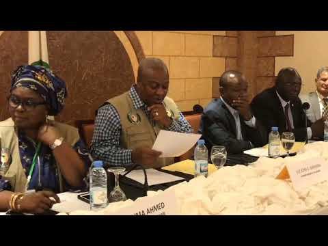 John D. Mahama Briefing Press on Liberia  Presidential Run-off.