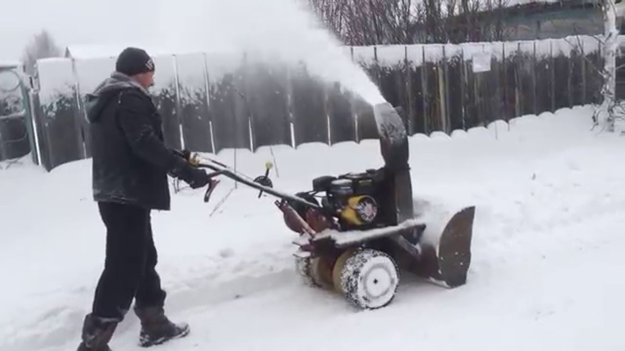 Самодельный роторный снегоуборщик своими руками