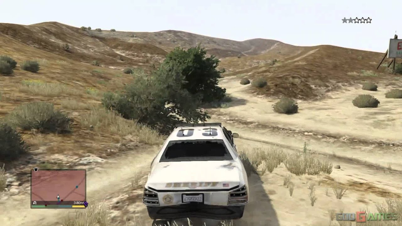 GTA V PS3 Gameplay / Walkthrough / 1080P Part 24 - Just Fun - Police chase, Driving a tractor ...