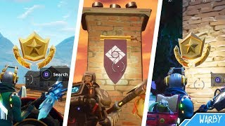 Fortnite - All Season 6 Secret Battle Stars & Banner Locations Guide (Free Battle Pass Tiers)