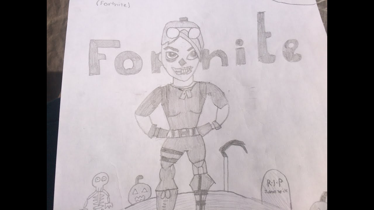 how to draw ghoul trooper fortnite - fortnite ghoul trooper drawing