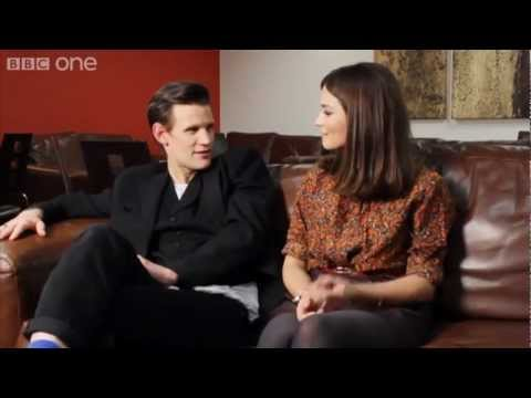 Doctor Who: Matt Smith and JennaLouise Coleman  each other!  Christmas Special  BBC One