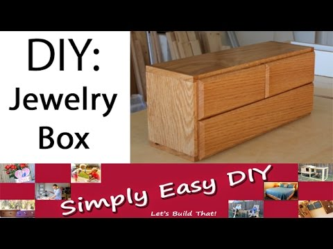 DIY Jewelry Box Simple Design YouTube