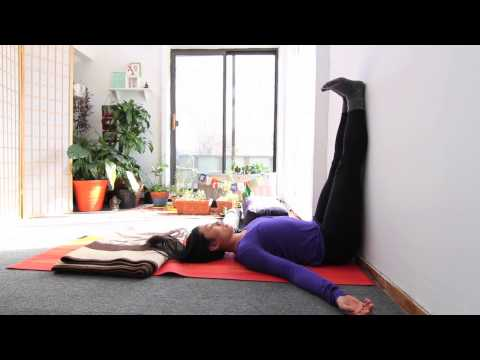 Restorative Yoga Legs up the Wall pose aka Viparita Karani