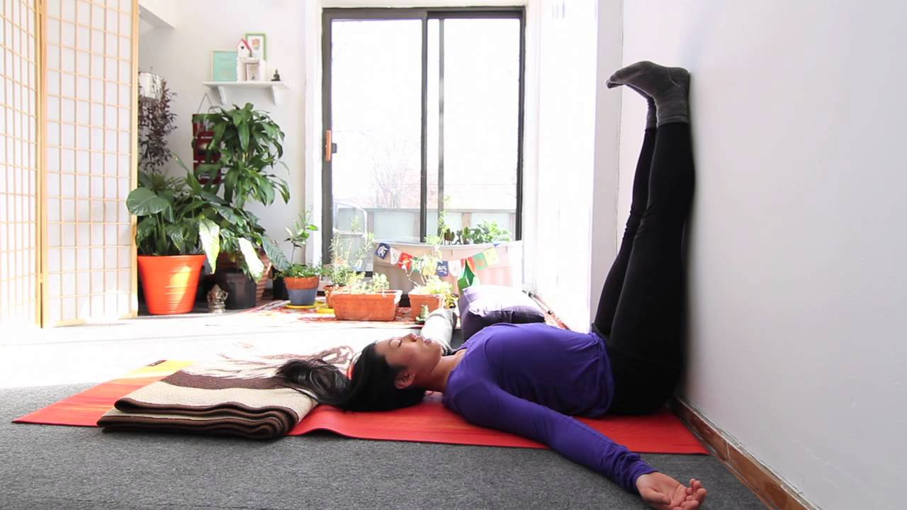 Restorative Yoga Poses At The Wall