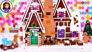 Building a Lego Gingerbread House