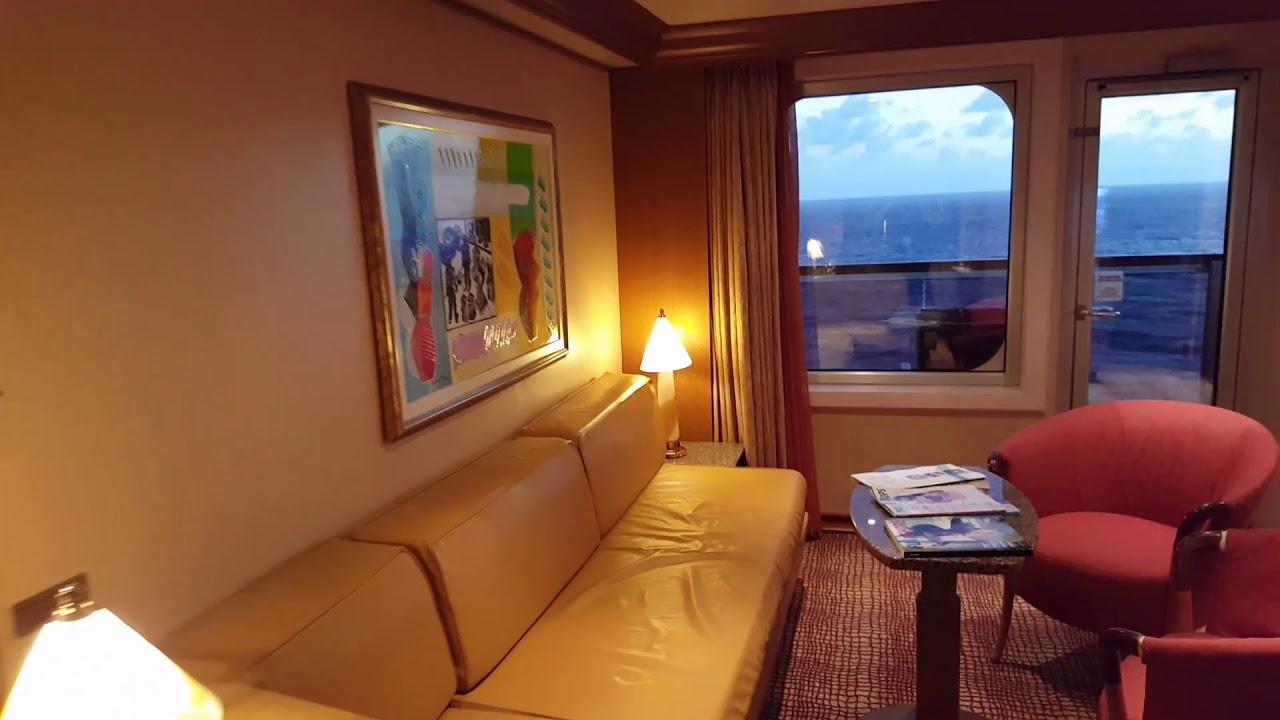 Carnival Liberty Grand Ocean Suite 7299 - YouTube