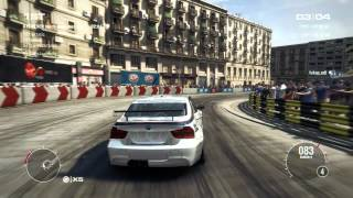 GRID 2 PC Multiplayer Race Gameplay: Tier 2 BMW 320 Touring Car in Barcelona, High Streets