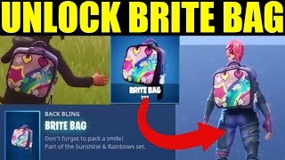 "How To Get ""Brite Bag"" Fortnite Battle Royale UNLOCK SECRET Brite Bag"