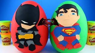 Batman vs Superman Giant Bowling Challenge Inflatable toys for kids Egg Surprise Monster Truck