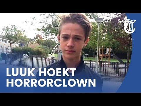 Luc (14) hoekt horrorclown neer