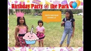 Birthday Party at the Park, Kid's play, the floor is lava game