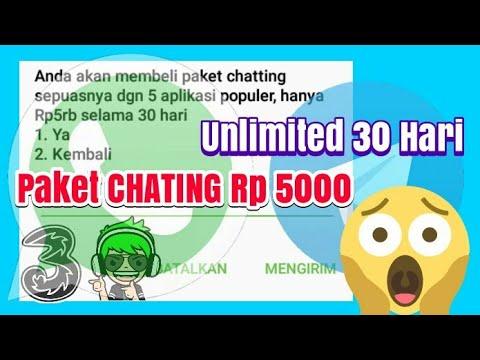 Cara Memaket Unlimited Chating Kartu Tri Hanya Dengan Rp 5000