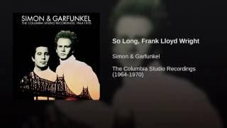 So Long, Frank Lloyd Wright