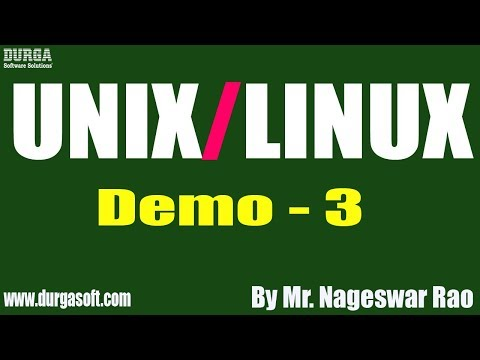 unix/linux-tutorial-||-demo---3-||-by-mr.-nageswar-rao-on-13-11-2019