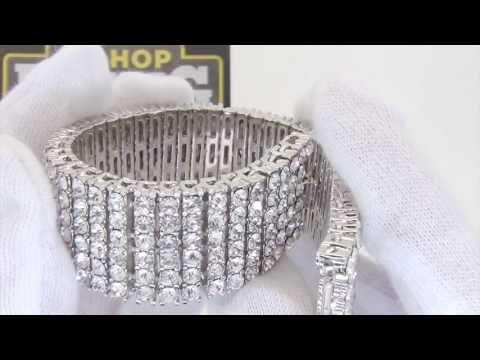 iced-out-bracelet- -6-row-bracelet- -bling-bling-jewelry