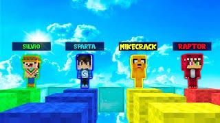 MIKECRACK VS RAPTOR VS SPARTA 😂 EPICA CARRERA EN MINECRAFT 🏆