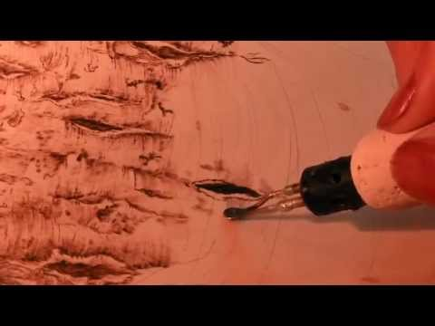 Pyrography Woodburning Tree Bark Youtube