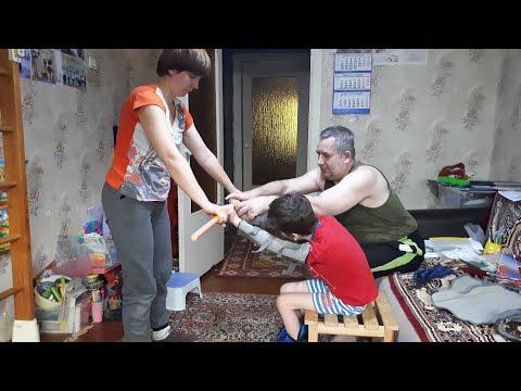 У Ярослава ДЦП. Учим правильно садиться, вставать из положения сидя. Родовая травма, эпилепсия.