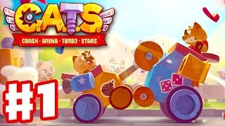 CATS БОИ КОТЯТ смотрим САМЫЕ КРУТЫЕ БОЕВЫЕ ТАЧКИ Мультик игра Crash Arena Turbo Stars