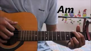 Rukh - Akhil - Punjabi Song - Guitar Cover Lesson Chords Easy