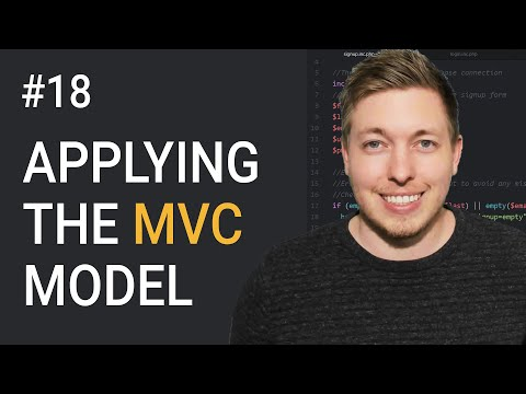 18: Apply The MVC Model Using OOP PHP | MVC Model Tutorial | Object Oriented PHP Tutorial thumbnail