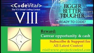 TCS Codevita season 8 (2019) I Coding contest I Contest News
