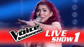 """Penampilan Aline menyanyikan lagu """"Bongkar"""" di babak Live Show 1 The Voice Indonesia 2016. The Voice Indonesia adalah suatu ajang pencarian bakat ..."""
