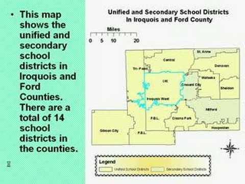 GIS showcase Iroquois West Middle School, Onarga