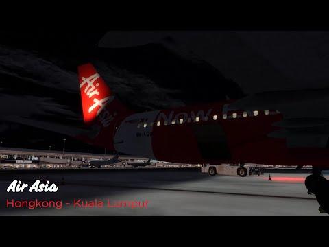 [P3D] Hongkong to Kuala Lumpur | Air Asia | A320-200