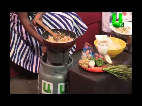 Healthy Way Of Preparing Vegetable Rice On Adekye Nsroma