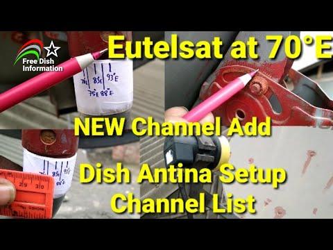 Eutelsat70B at 70°E Dish Setup New Channel Add || How To Setup Eutelsat 70B & Update Channel List