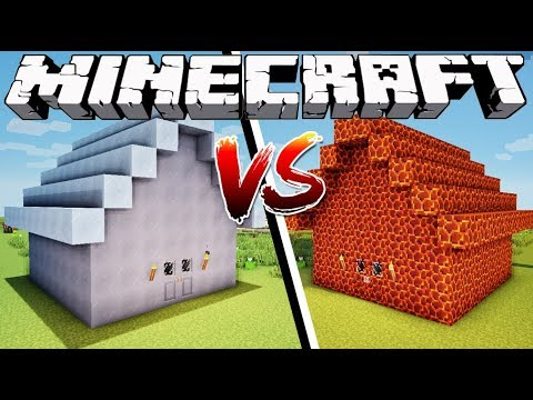 ICE HOUSE VS MAGMA HOUSE  Minecraft