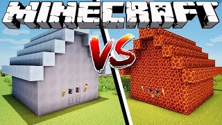 ICE HOUSE VS MAGMA HOUSE - Minecraft