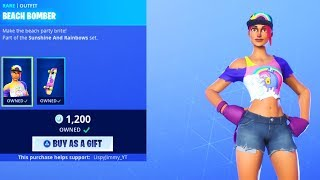 Fortnite Item Shop *NEW* BEACH BOMBER SKIN! July 6th (FORTNITE BATTLE ROYALE)