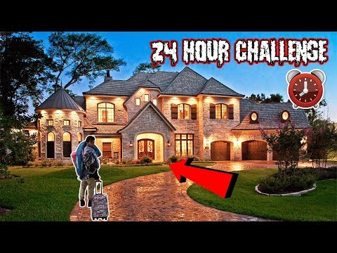 ASKING MILLIONAIRES IF I CAN SLEEPOVER IN THEIR MANSION | 24 HOUR CHALLENGE AT A STRANGERS HOUSE!