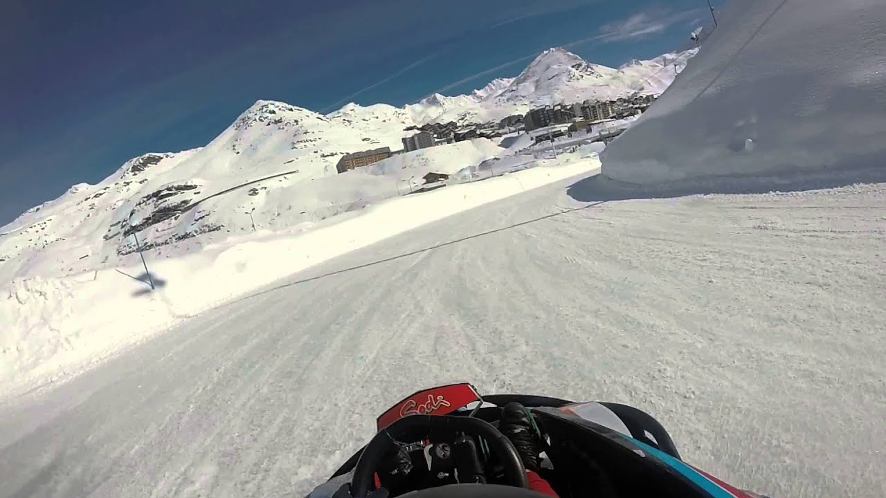 Ice karting val thorens webcam
