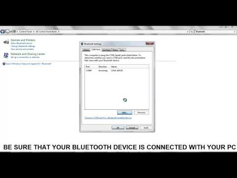 How To Connect Bluetooth Device With COM Port Of PC