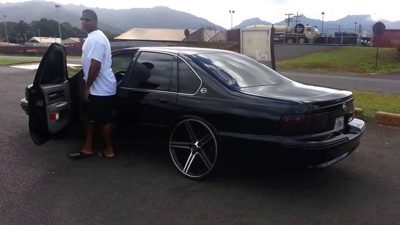 95 Chevy Impala Ss On Black 24 Inch Irocs Youtube