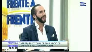 Nayib Bukele Con Moisés Urbina (Entrevista Completa) En Frente A Frente TCS 09/19/2018