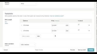 How To Create Different Prices, Variations, Options in one etsy listing
