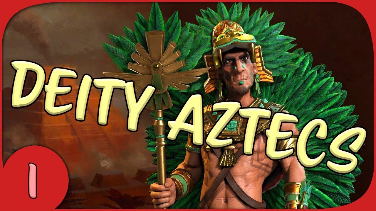 Civilization 6 - Deity Aztec Let's Play - Part 1 - Civ 6 Gameplay