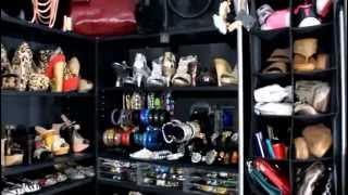 CLOSET SHOE SHELF MAKEOVER!  ( Mini Closet Tour)