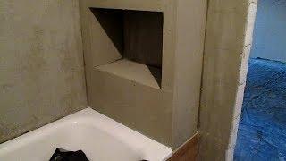 как сделать нишу в ванной из гипсокартона