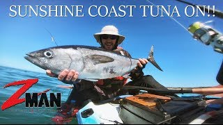Catching Tuna when they wont bite - Kayak Fishing