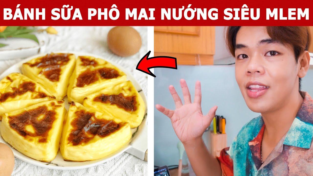 Sunny Vào Bếp Trổ Tài Làm Món Bánh Sữa Phô Mai Nướng Siêu Mlem   Oops Banana Vlog 286